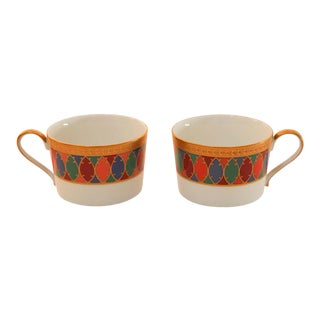 Set of Two Faberge Porcelain Tea, Coffee Cups For Sale