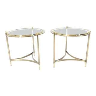 Mid-Century Modern Dia Round Side Tables - a Pair For Sale