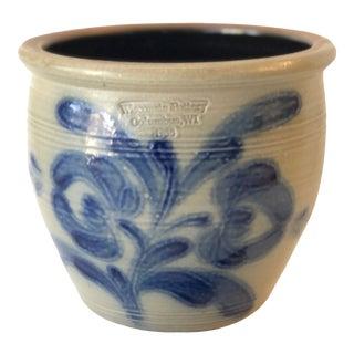 Salt Glazed Mixing or Serving Bowl - Vintage For Sale