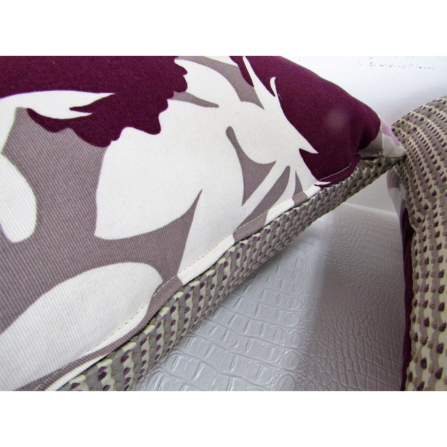 2010s Reversible Floral Printed Accent Pillows - A Pair For Sale - Image 5 of 6