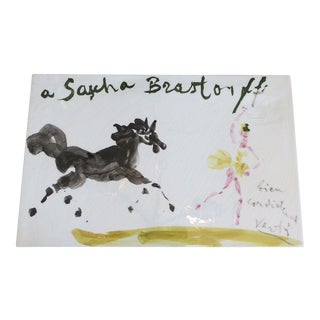 Rare Sascha Brastoff Porcelain Plaque by Marcel Vertes For Sale