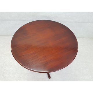 French Petite Round Tilt Top Small Bistro Cherry Breakfast Dining Table Preview
