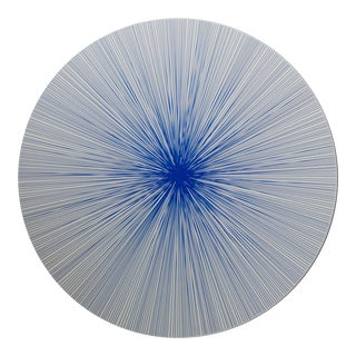 Lines Placemat in Cobalt For Sale