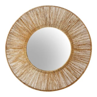 Selamat Designs High Ball Mirror in Natural Jute For Sale