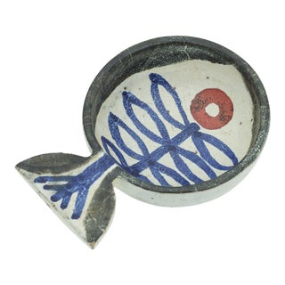 Studio Pottery Bowl in the Shape of a Fish by Robert Weimerskirch For Sale