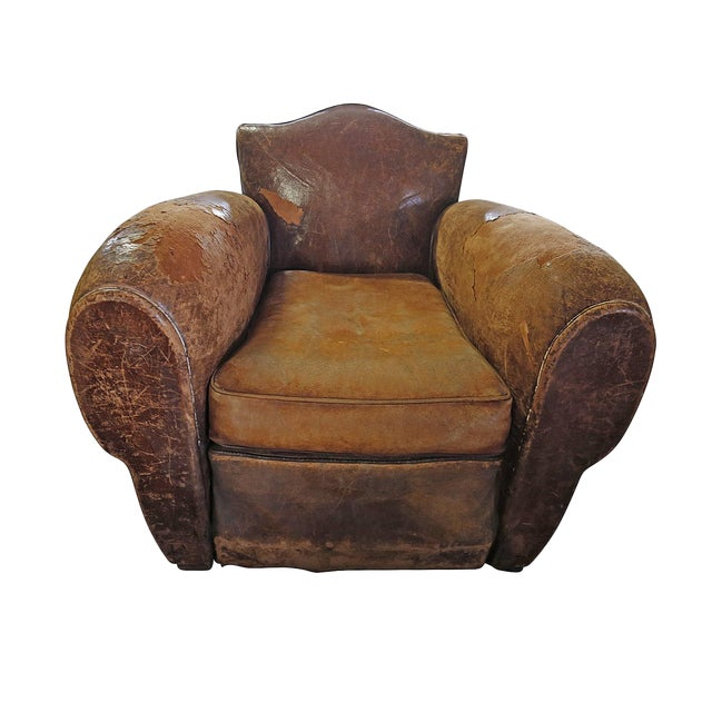 Excellent Club Chair Distressed Brown Leather Camellatalisay Diy Chair Ideas Camellatalisaycom
