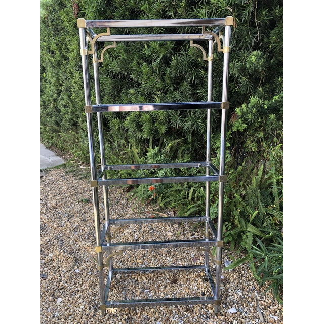 Vintage Mastercraft Chrome Etagere For Sale In Tampa - Image 6 of 6