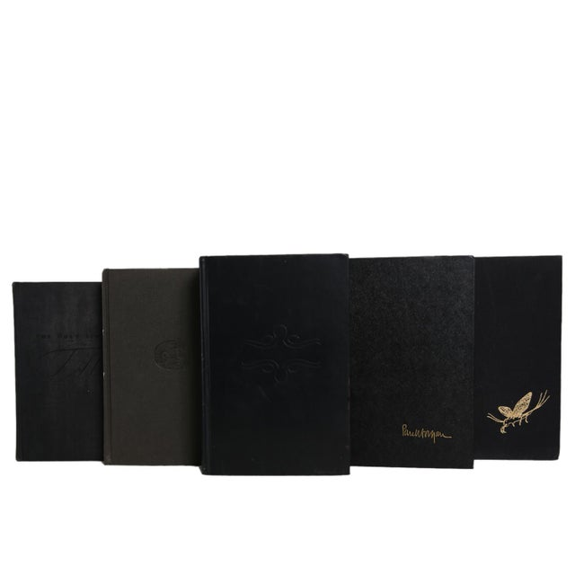 Midcentury Mix: Gilt on Black Book Set, S/18. Features a blend of eighteen authentic midcentury books published 1940-1969....