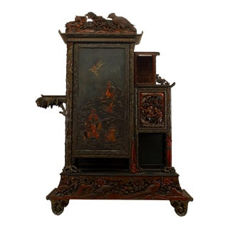 Chinese Lacquered Armoire For Sale