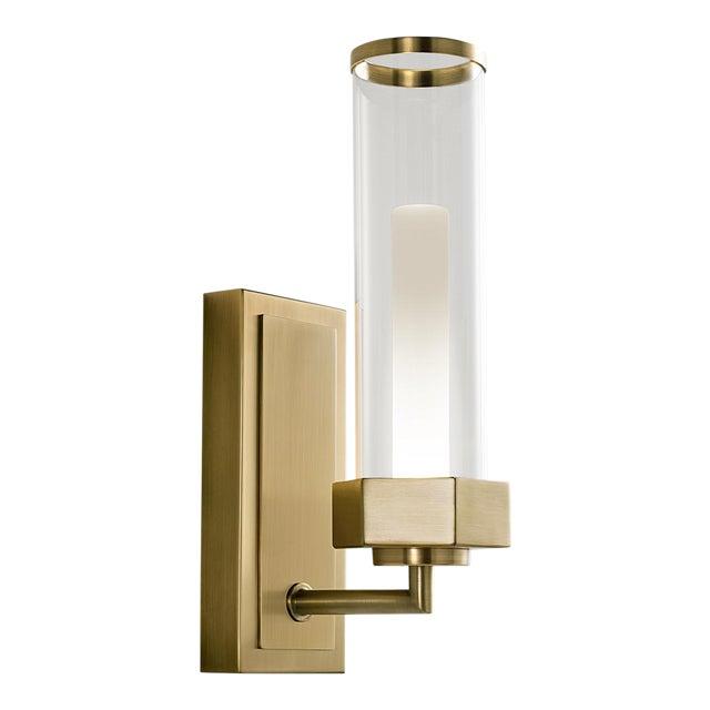 Regent English Brass Bathroom Wall Light For Sale