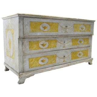18th Century Italian Neoclassical Painted Chest of Drawers