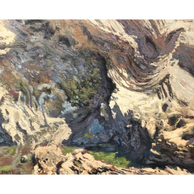 Fred Hope Tide Pool Framed Oil Painting