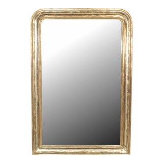 19th Century French Victorian Silver Gilt Wall Mirror For Sale