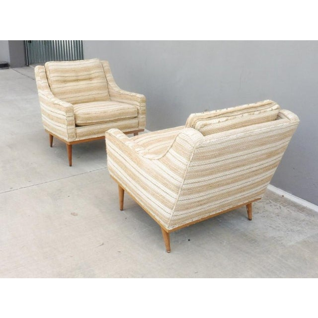 Textile 1960s Mid-Century Modern Milo Baughman for James Inc Articulate Lounge Chairs - a Pair For Sale - Image 7 of 11
