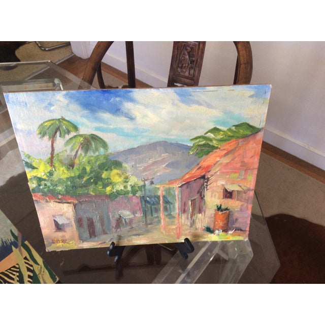 Original Signed 1920s Mexican Village Landscape - Image 3 of 10