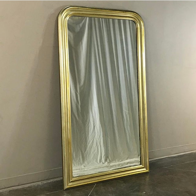 19th Century French Louis Philippe Gilded Mirror remains a continuously popular style 170 years after its first...