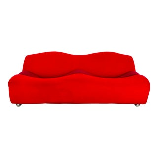 1968 Paulin Abcd Tri-Color Two Seat Sofa For Sale