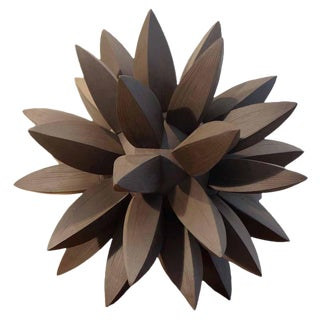 Contemporary Ebony Star Sculpture by Titia Estes For Sale