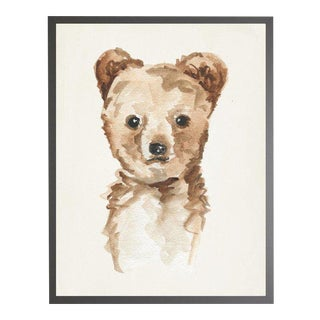 """Watercolor Baby Cub Framed Print - 23"""" X 29"""" For Sale"""