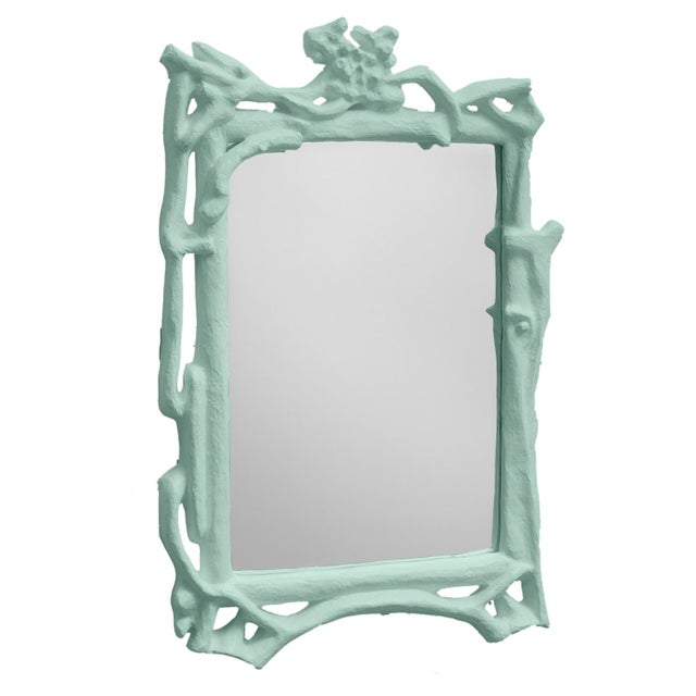 Contemporary Stray Dog Designs for Chairish Magalie Mirror, Light Blue For Sale - Image 3 of 3