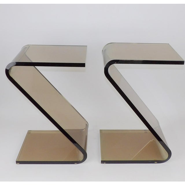 """Tremendous Find. Hstudio """"Z"""" table by Shlomi Haziza. Each piece is signed by the artist. Acrylic bent furniture would..."""