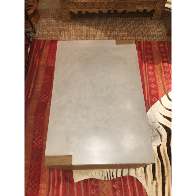 Contemporary Concrete Top Coffee Table For Sale - Image 3 of 8