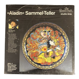 Vintage Rosenthal Studio Line Aladin Samuel-Teller Collector Plate, New in Box For Sale