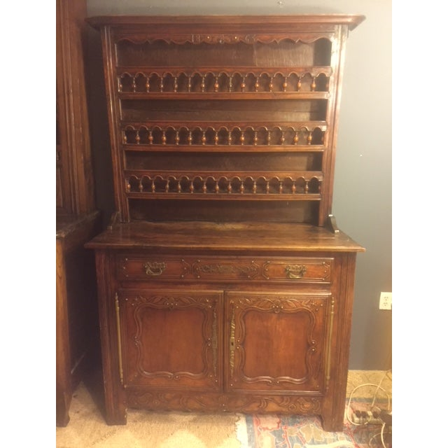 19th Century Hand Carved Walnut French Vaisselier For Sale - Image 13 of 13