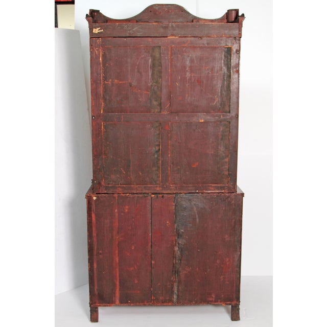Gold Period English Regency Secretary Cabinet With Ebonized Trim For Sale - Image 8 of 13