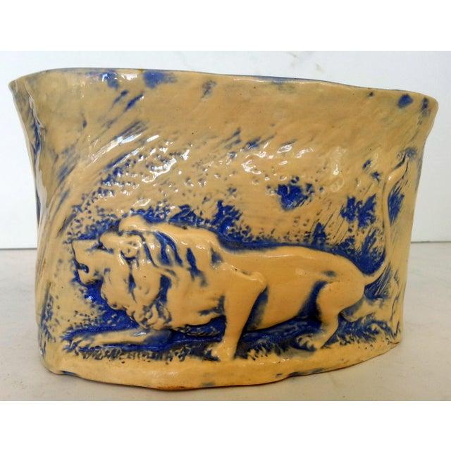 Mid-Century Stalking Lion Vase For Sale - Image 4 of 6