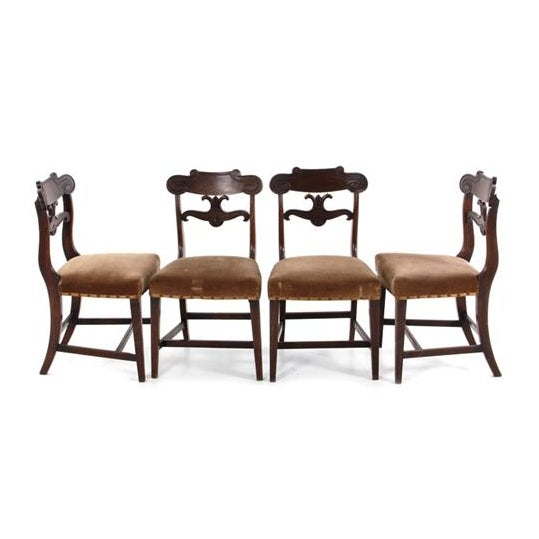 William IV Mahogany Side Chairs C. 1825 - Set of 4 - Image 2 of 4