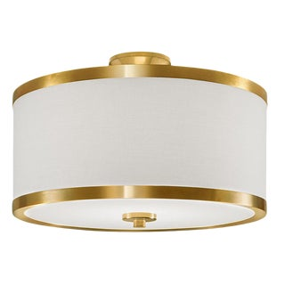 Atlanta Brushed Brass Ceiling Light For Sale