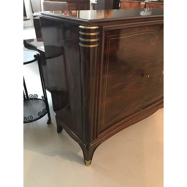 Jules Leleu Style French Art Deco Four Door Buffet For Sale - Image 4 of 10