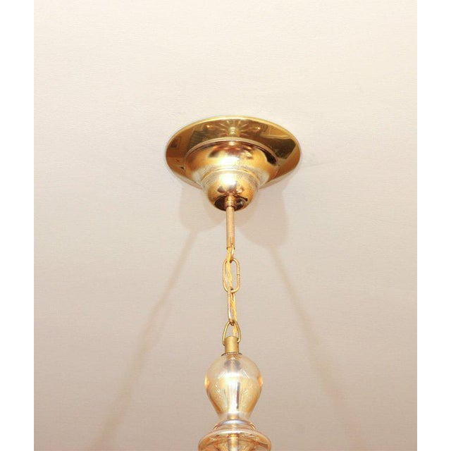 Hollywood Regency Czechoslovakian Glass Chandelier For Sale - Image 3 of 7
