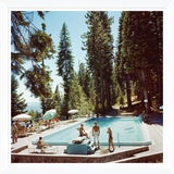 "Image of Slim Aarons, ""Pool at Lake Tahoe,"" January 1, 1959 Getty Images Gallery Art Print For Sale"