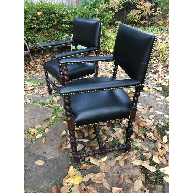 Mahogany Barley Twist Armchairs - a Pair For Sale - Image 11 of 12