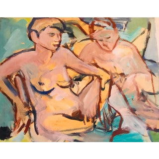 Contemporary Original Nude Figures Oil Painting For Sale