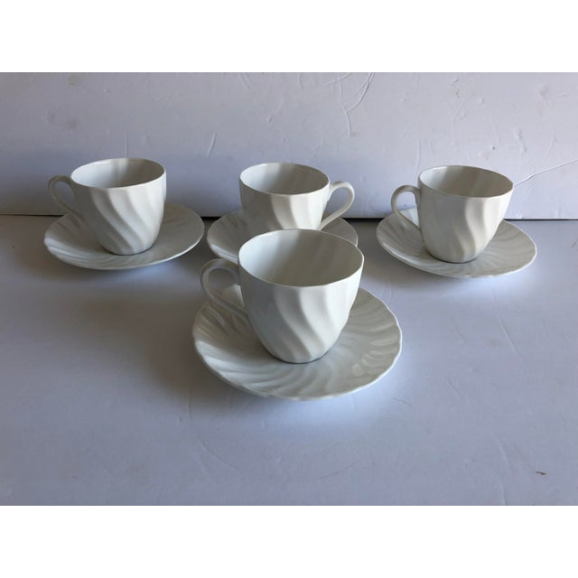 Ceramic Vintage Royal Tuscan by Wedgwood Cocoa /Teacups & Saucers S/4 For Sale - Image 7 of 7