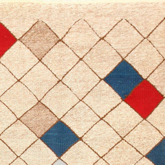 Mid-Century Swedish Kilim Rug - 7′ × 9′9″ For Sale - Image 4 of 7