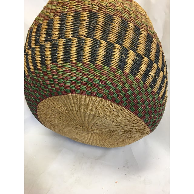 Oval Hand Woven Natural Grass Basket - Image 7 of 8