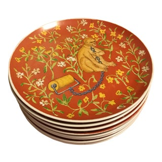 """1970s Seymour Mann """"Hunt of the Unicorn"""" Salad Plates - Set of 8 For Sale"""