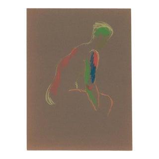 1960s Pastel Figure Study For Sale