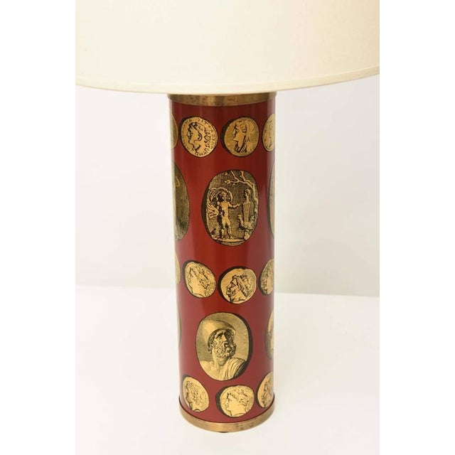 Mid-Century Modern Piero Fornasetti Cameo Table Lamp For Sale - Image 3 of 8