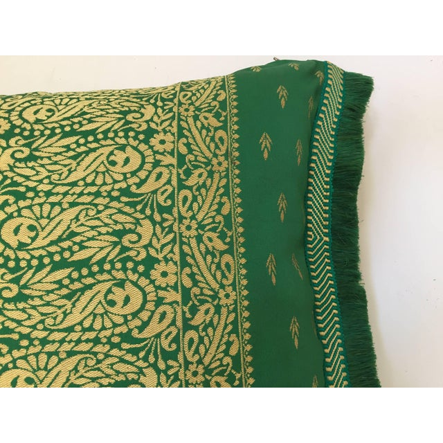 Large Pair of Moroccan Green Throw Pillows