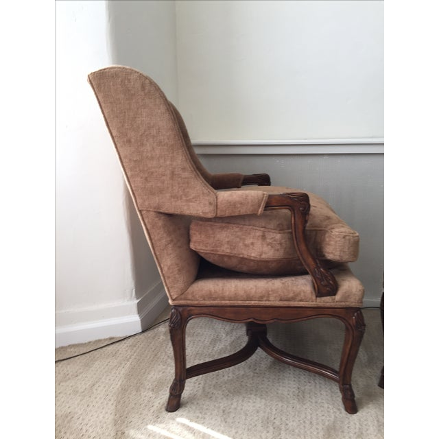 Provence Wing Chairs - A Pair - Image 4 of 4