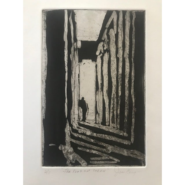 20th Century Original Signed Letterpress Print on Archival Paper by Joan Corrigan For Sale - Image 4 of 10