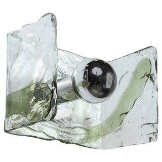 Minimalist Glass Sconce by Mazzega For Sale