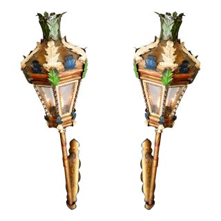 Antique Venetian Processional Lanterns, Pair For Sale
