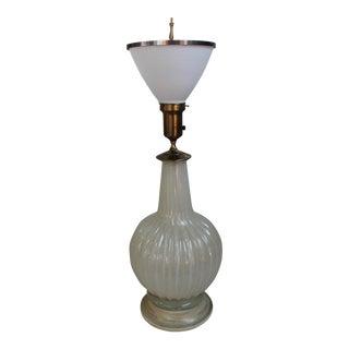 Italian Murano Glass Vase Lamp