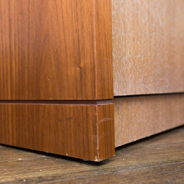 Walnut and Cerused Oak Two-Drawer Cabinet For Sale - Image 4 of 7